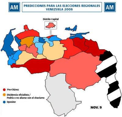 Predicciones en las elecciones de Gobernadores, 23 Noviembre
